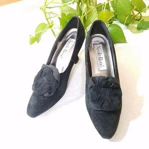 Black Suede Heels, sz 8.5M
